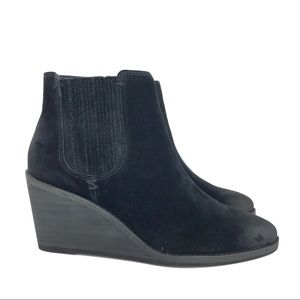 🆕 Frye Kaye Chelsea Boot Black Wedge Ankle Bootie